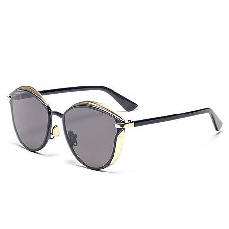 Z&YQ Occhiali da sole stile vintage Occhiali da vista in metallo con montatura anti-UV, C
