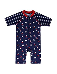 HUANQIUE Kids Swimsuit Boys UPF 50+ Sun Protection Two Piece