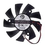 PLA08015S12HH Graphics Card Fan 75mm 12V 0.35A 2-Pin 2Wire PC Fan Cooling Fan for XFX HD5670 HD5770 HD6570 HD6670 HD6770