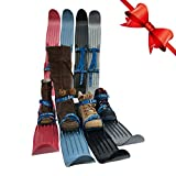 Team Magnus Kids Skis 65cm - Plastic Mini Snow Skis with Quality Buckled Straps for Back Yard or Park to Build Cross Country & Downhill Technique - Fits All Boots /Shoes Age 3 to Size 10