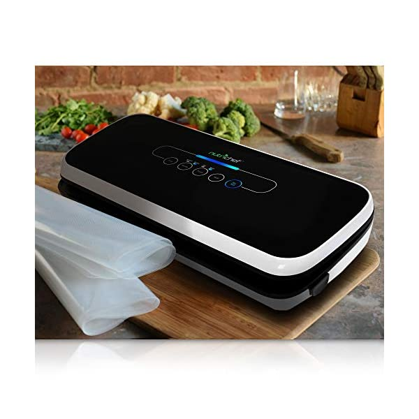 NutriChef-Vacuum-Sealer-Automatic-Vacuum-Air-Sealing-System-For-Food-Preservation-w-Starter-Kit-Compact-Design-Lab-Tested-Dry-Moist-Food-Modes-Led-Indicator-Lights-Black