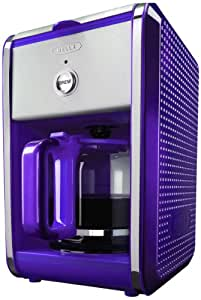 BELLA 13740 Dots Collection 12-Cup Coffee Maker, Purple