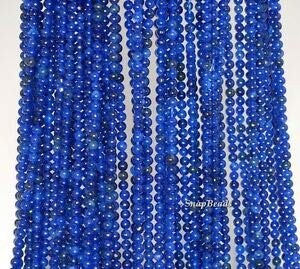 2MM Sapphire Blue Jade Gemstone Dark Blue Round 2MM Loose Beads 16