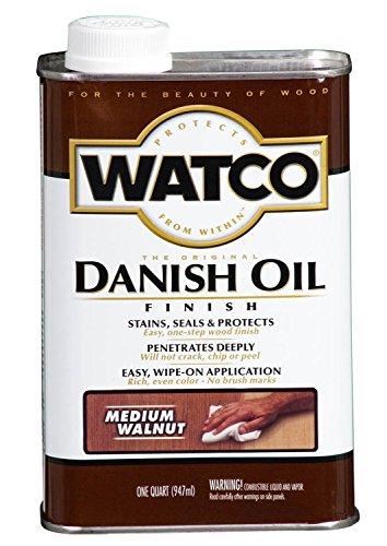 Watco 242223 Danish Oil Wood Finish, Low VOC, Quart, Medium Walnut ()