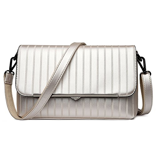 Fashion Casual White PU Bag Shoulder Women's Crossbody Clasp Magnetic rwrS7B