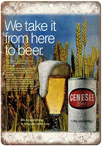 Genesee Beer Vintage Ad Man Cave Décor