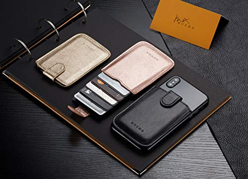 Phone Card Holder RFID Blocking Sleeve, Pu Leather Back Phone Wallet Stick-On Pull up 5 Card Holder Universally Pocket Covers Credit Cards Cash for iPhone/Android/Samsung/All Smartphones. (Rose) by Arokimi (Image #8)