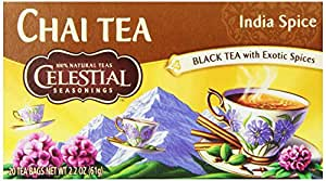 Celestial Seasonings Tea, India Spice Chai, 20 Count (Pack of 6)