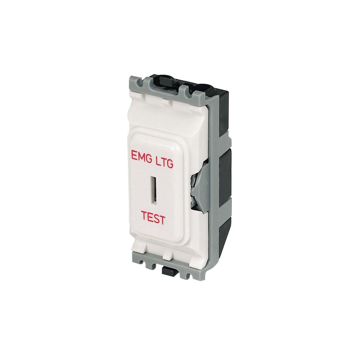 MK 2-Way 20A SP Emergency Lighting Test Secret Key Switch White