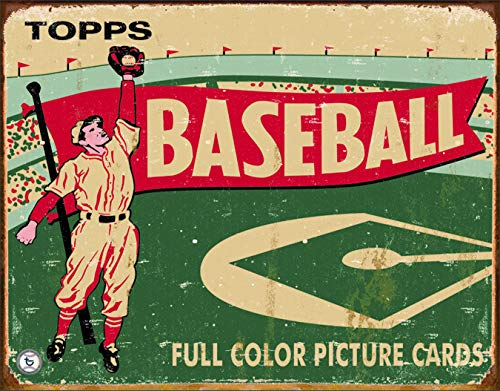 Desperate Enterprises Vintage Topps Baseball Cards 1954 Tin Sign, 16