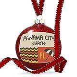 Christmas Decoration US Beaches Retro Panama City Beach Ornament