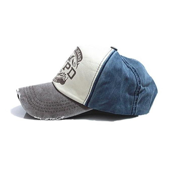 New York Jeans - Gorra de béisbol - para Hombre Azul Blue & Grey Talla única