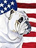 Cheap Caroline's Treasures LH9019CHF USA American Flag with English Bulldog Flag Canvas, Large, Multicolor