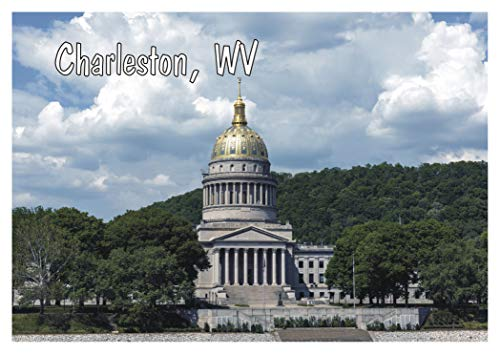 Charleston, West Virginia State Capitol Building, WV, Travel, Souvenir, Refrigerator, Locker Magnet 2 x 3 Fridge Magnet (Souvenirs Wv)