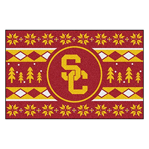 Fanmats NCAA Holiday Sweater Starter Rug, Southern California, 19