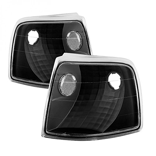 VIPMOTOZ Front Turn Signal & Cornering Light Assembly For 1993-1997 Ford Ranger, Matte Black Housing, Driver and Passenger Side