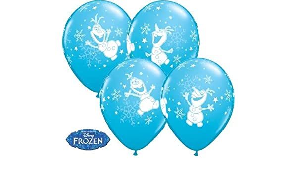 "11/"" Qualatex Helium//Air Latex Balloons Frozen   OLAF DANCING Blue"