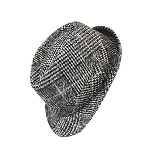 iSee Case Kids Fedora Hat for Fall and Winter Formal Dress for Toddler Boy/Little Boy (Glen Plaid, Small) ()