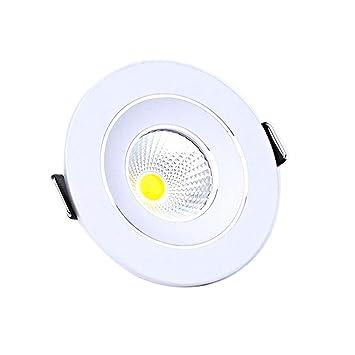 Woerled Ronda 3W / 5W Proyector LED Downlight Panel Iluminación de la luz Empotrada Decoración del hogar COB Led Luz de Techo Aluminio Techo Integrado para ...
