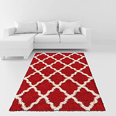 Maxy Home Bella Collection Trellis Shag Area Rugs