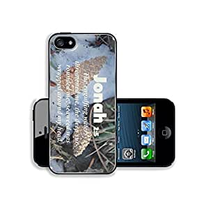 Bible Verses Quote Jonah 2_4s The engulfing waters threatened me the deep surrounded me seaweed was wrapped around my head MSD iPhone 4s Cover Premium Aluminium Design TPU Case Open Ports Customized Made to Order