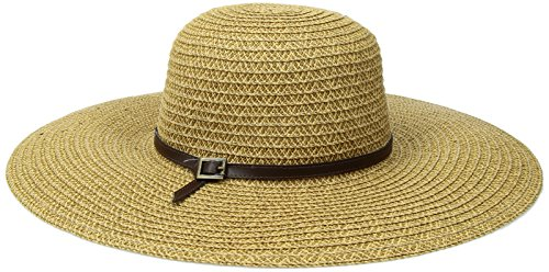 Womens Belted Cap - San Diego Hat Company Women's Ultra Braid Belted Floppy, Camel, One Size