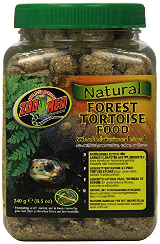 Natural Forest Tortoise Food - Zoo Med Laboratories SZMZM120 Natural Forest Tortoise Food, 8.5-Ounce