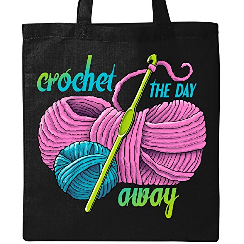 - Inktastic - Crochet the Day Away Tote Bag Black 28904