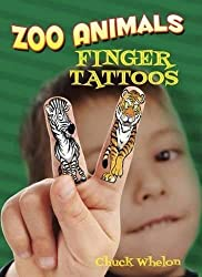 Zoo Animals Finger Tattoos