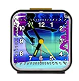 roller skating dance Square Quartz Alarm Clock Easy-carry 3.27 Inch Black