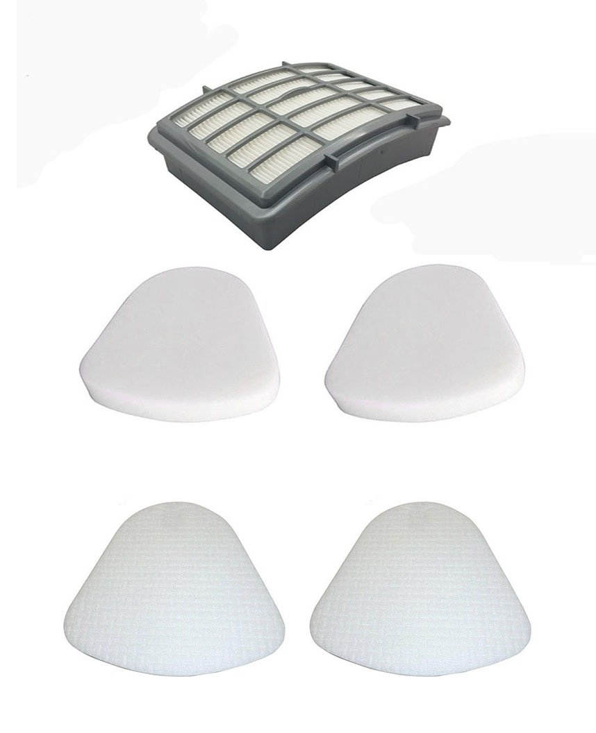 1 Hepa Filter + 2 Pack Pre-filter Foam & Felt for Shark XFF350 XHF350 Navigator Lift-Away NV350, NV351, NV352, NV355, NV356, NV356E, NV357, NV360, NV370, UV440, UV540