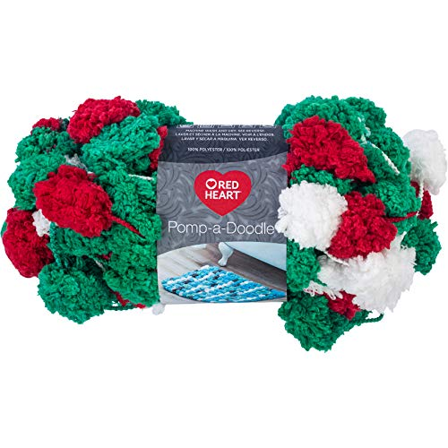RED HEART E875.9631 Pomp-A-Doodle yarn Holiday ()