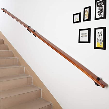Pasamanos de escaleras, pasamanos de la escalera interior de madera maciza retro pasamanos de la escalera,
