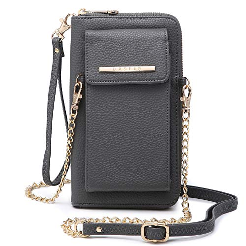 Wallet Purse With Strap (Cellphone Wallet Purse Phone Pouch Wristlet Clutch Crossbody Shoulder Bag - 12)