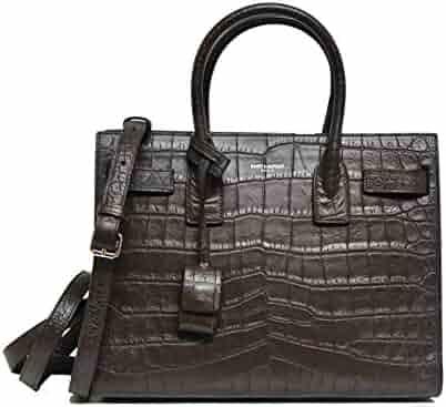 771d0aa0cd4c SALVATORE FERRAGAMO Caramel Sienna Sofia Handbag With Lizard Flap. seller   designer neckwear. (0). YSL Saint Laurent Small Sac De Jour Tote Bag in  Grey ...