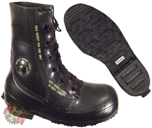 Combat Boot, Mickey Mouse Extreme Cold Weather Boots, Waterproof Rubber, Genuine U.S. Military Issue, NSN 8430-00-823-7037, 7 Wide Black
