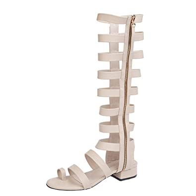 Été Chaussures Femme Plate Slip Bottes Gladiateur Respirant Élégant X8wkn0PO