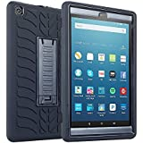 Fire HD 8 2017 Case, TabPow Tire-Pro Series - [Shockproof][Drop Protection][Heavy Duty] Three-Layer Case With Stand For Amazon Fire HD 8 (2017) Tablet,Black