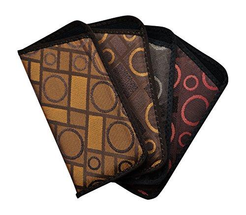 4 Pack Soft Slip In Eyeglass Case For Women & Men, Glasses Slip Case, Geometric by Ear Mitts