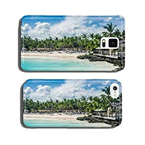 Relaxing on remote Tropical Paradise beach in Dominican Republic cell phone cover case Samsung S5
