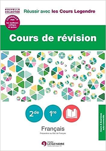 Livre Cours De Revision Francais 2de 1re Preparation Au
