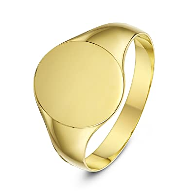 290459ae002b8 Theia 9 ct Yellow Gold, Oval Shape, Light, Medium or Heavy Weight Signet  Ring
