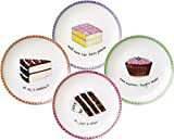 Dessert Excuses Plate, Set of 4