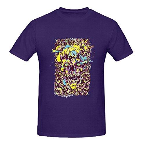 100% Cotton Black Number 3 Skeletion King Mens Summer Fashion DIY Tops Tees Short Sleeve T Shirt Man Punk Style O Neck Casual T Shirt