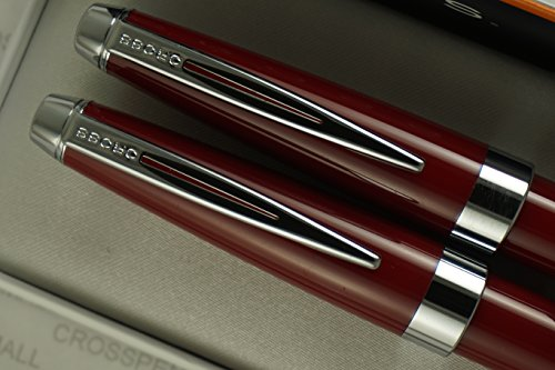 Cross Executive Companion Limited Edition Plasma Red Barrel and Extremely Polished Appointments , Ballpoint Pen and 0.7mm Pencil Set