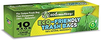 Eco-smartbags Biodegradable Trash Bags, Leaf Green, 1 Pound by ...