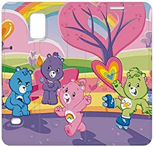 Personality Design Care Bear-10 iPhone Samsung Galaxy S5 Leather Flip Case