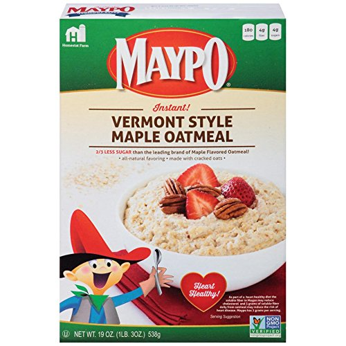 MAYPO Instant Maple Oatmeal Cereal Vermont Style 19 OZ (Pack of 2): Amazon.com: Grocery & Gourmet Food