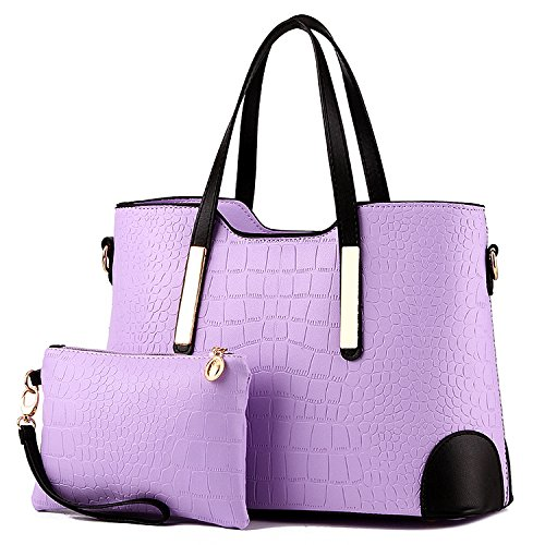 Satchel and Handbags Bags Wallets Tote Shoulder Women Light Purple Purses YNIQUE for qU474w