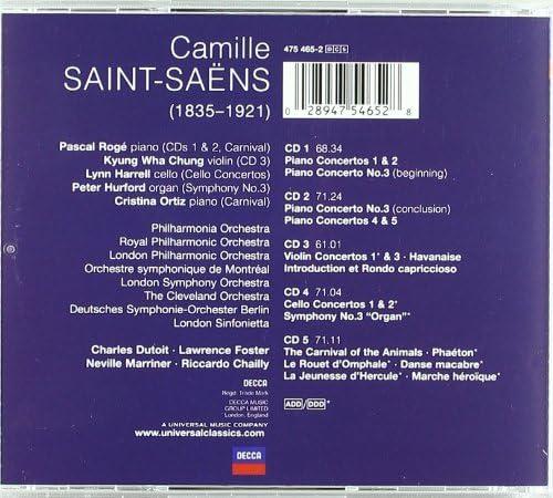 Saint-Saens: L'Oeuvre Concertante : Dutoit, Charles: Amazon.it: Musica